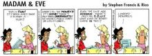Madam and Eve comic strip poking fun at post-apartheid class and race relationships