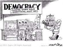 Cartoon mocking South African politics