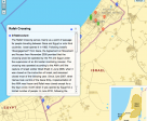 An interactive map of the Gaza strip